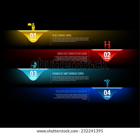 Modern Template options number with business people icons for business presentation or concept. - stock vector