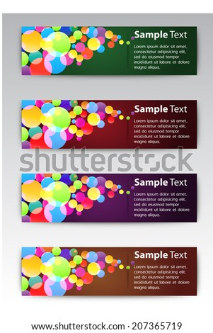 modern text box for website and business, Colorful Defocused Light, Flickering Lights background.