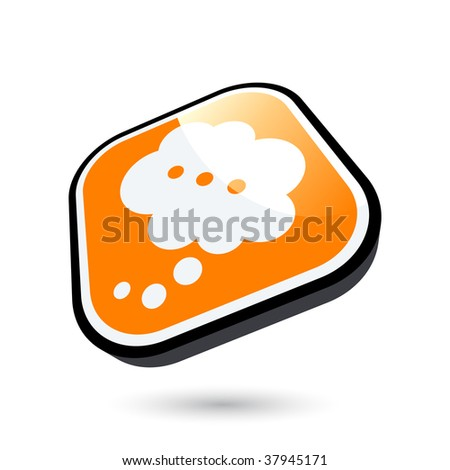 modern thinking cloud sign - stock vector