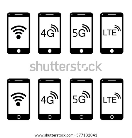 Modern touch screen smartphone icon isolated on white background - stock vector