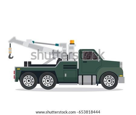 modern tow truck illustration logo stock vector royalty free