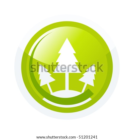 modern tree sign - stock vector