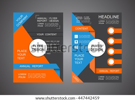 modern triangle cover design, business infographic template - stock vector