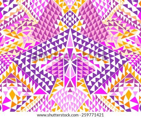 Modern Triangle geo design ~ seamless background - stock vector