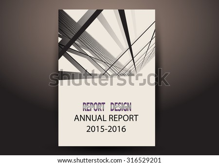 Modern Vector abstract annual report, brochure or flyer design template  - stock vector