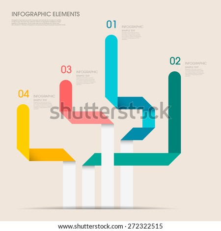 modern vector abstract bar chart infographic elements.can be used for workflow layout, diagram, number options, web design.  illustration ,EPS10 - stock vector