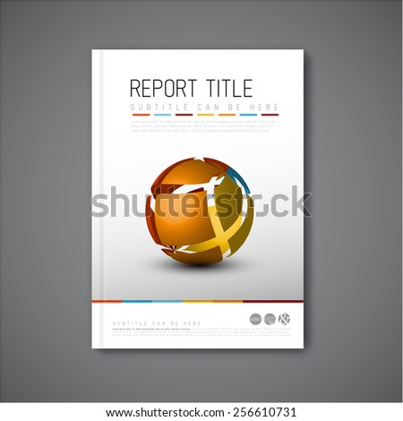 Modern Vector abstract brochure / book / flyer design template with abstract shape - stock vector