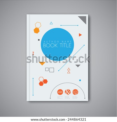 Modern Vector abstract brochure / book / flyer design template with geometric shapes - stock vector