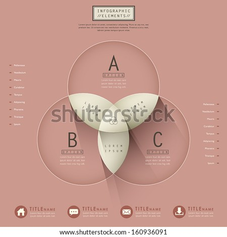 modern vector abstract infographic elements design - stock vector