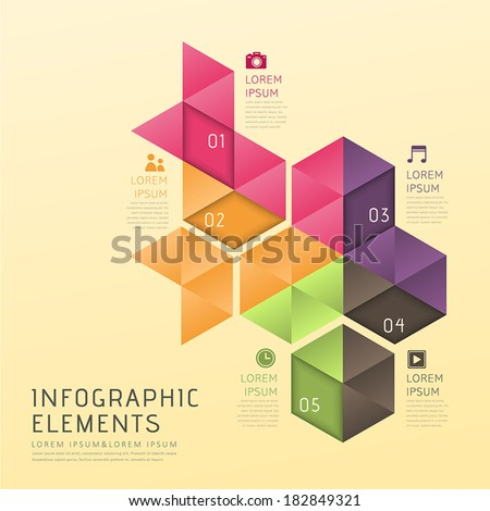 modern vector abstract low poly style infographic elements - stock vector