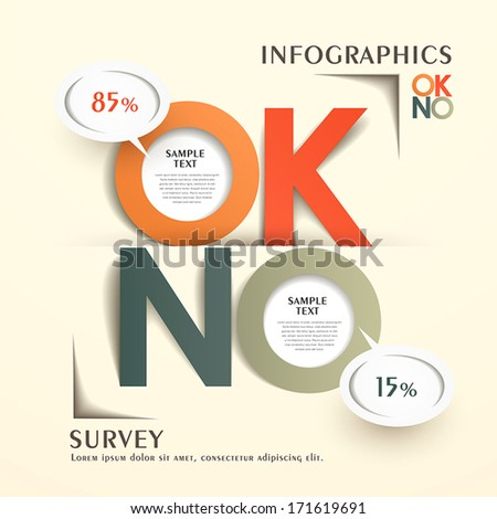 modern vector abstract origami reply comments chart infographic elements - stock vector