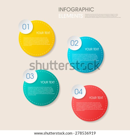 modern vector abstract step circle lable infographic elements.can be used for workflow layout, diagram, number options, web design.  illustration ,EPS10 - stock vector