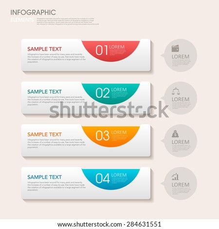 modern vector abstract step label infographic elements.can be used for workflow layout, diagram, number options, web design.  illustration ,EPS10 - stock vector