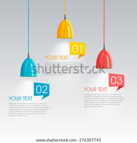 modern vector abstract step light-bulb infographic elements.can be used for workflow layout, diagram, number options, web design.  illustration ,EPS10 - stock vector