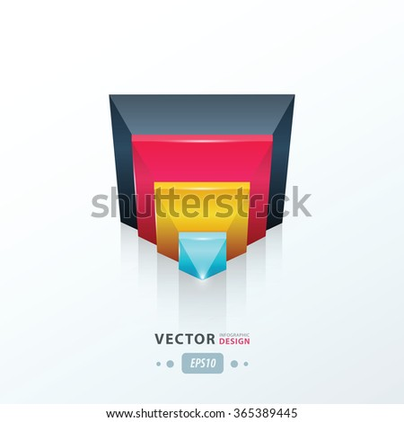 modern vector abstract triangle pink, blue, yellow
