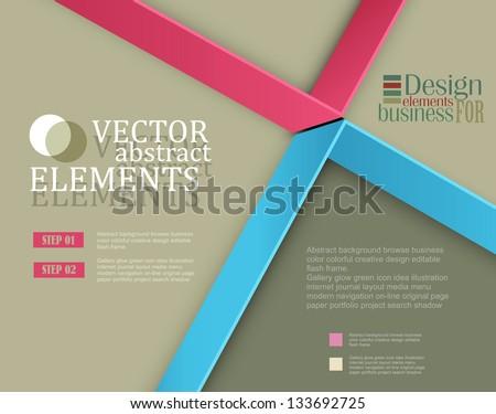 Modern vector banner (Items for Web / Business Design) - stock vector
