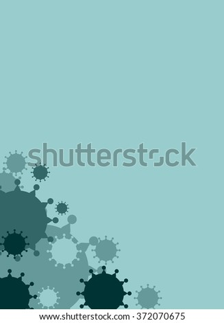 Modern vector brochure, report or flyer design template. Medical industry, biotechnology and biochemistry concept. Scientific medical designs.  Virus diseases relative theme - stock vector