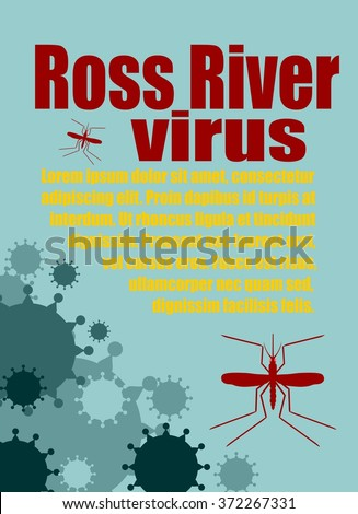 Modern vector brochure, report or flyer design template. Medical industry, biotechnology and biochemistry. Scientific medical designs.  Mosquito transmission diseases relative. Ross River virus - stock vector