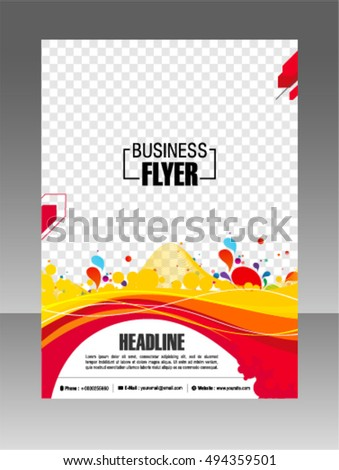 Minimalistic White Cover Brochure Design Flyer Stock Vector - Template for brochure