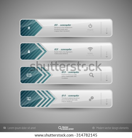 Modern vector design elements for infographics, print layout, web pages. - stock vector