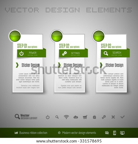 Modern vector design elements for infographics, print layout, web pages.