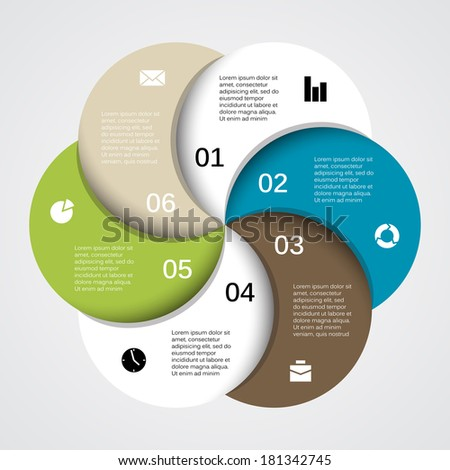 Modern vector info graphic for business project - stock vector