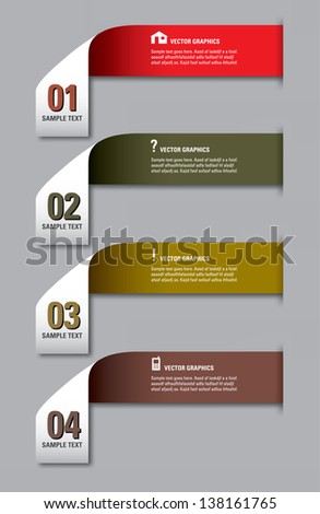 Modern Vector Numbered Banners. Graphic or Website Layout.