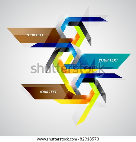 Modern vector origami background - stock vector