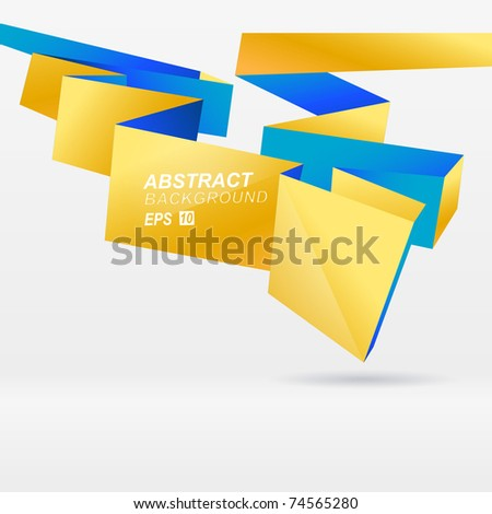 Modern vector origami background for you presentation - stock vector