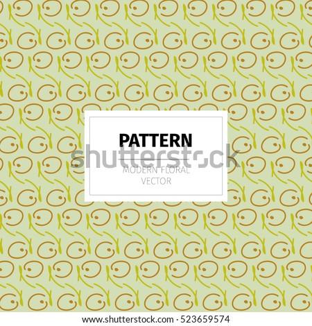 Modern Vector Pattern, Floral Motive, Wallpaper, Decor, Packaging, Label,  Identity