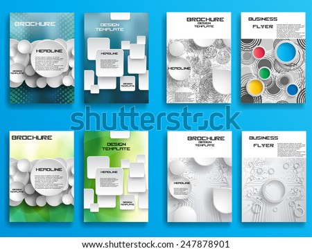 Modern Vector Technology Brochure , Cover, Flyer, Report , or Leaflet Design Template . Abstract Background . Modern Poster . Layout Magazine Design . Futuristic Background . Technology Background .  - stock vector