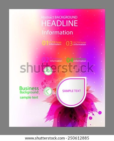Modern Vector Template for Business Brochure with floral elements . - stock vector