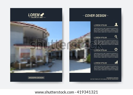 Modern vector templates for brochure, Leaflet, flyer, cover, magazine or annual report in A4 size. Business design book layout. Abstract presentation with blur background. - stock vector