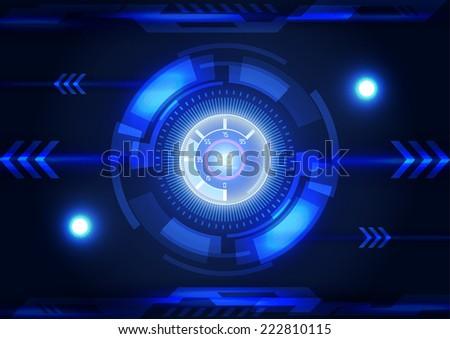 Modern virtual technology background interface - stock vector