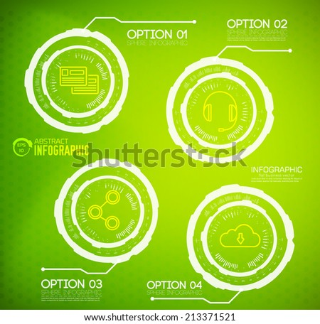 Modern virtual technology infographic background. Vector illustration design - stock vector