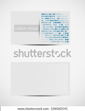 Modern visiting card. - stock vector
