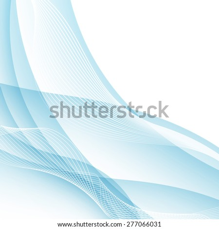 Modern water like swoosh wave border concept. Vector illustration. Clip-art - stock vector