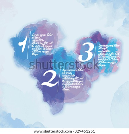 Modern watercolor Design Layout - stock vector