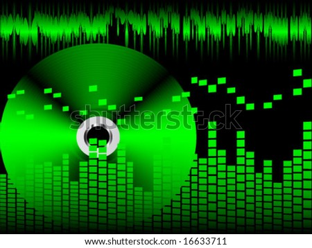 modern wave sound - stock vector