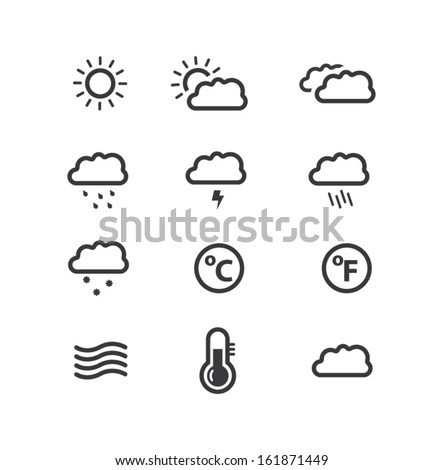 Modern Weather icons - stock vector