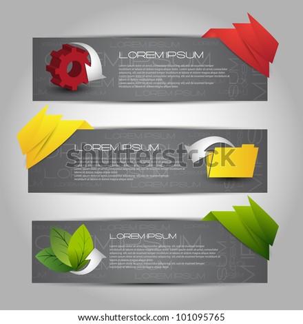 modern web banners - stock vector