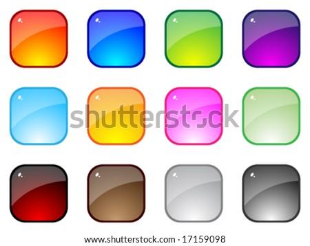 Modern web buttons - stock vector