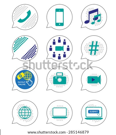 Modern Web Design Elements for Interactive Buttons or Visual Guides. Editable Clip art Isolated on white background.  - stock vector