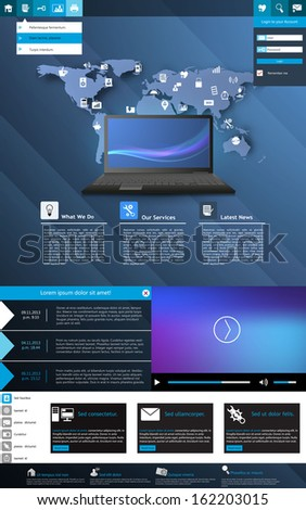 Modern Web Design elements. Templates for website.  - stock vector