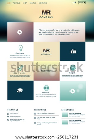 Modern website design template for graphic designers