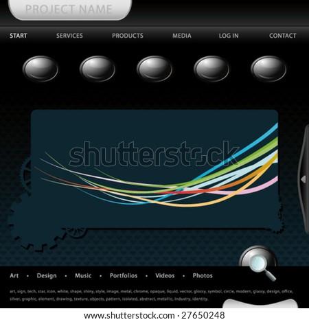 modern website interface, vector editable layout. - stock vector