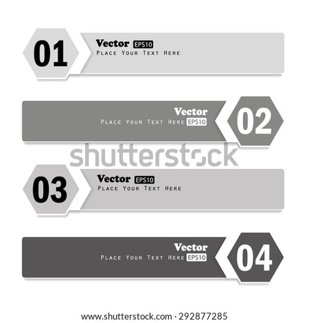 Modern white Design template. Vector website layout - stock vector