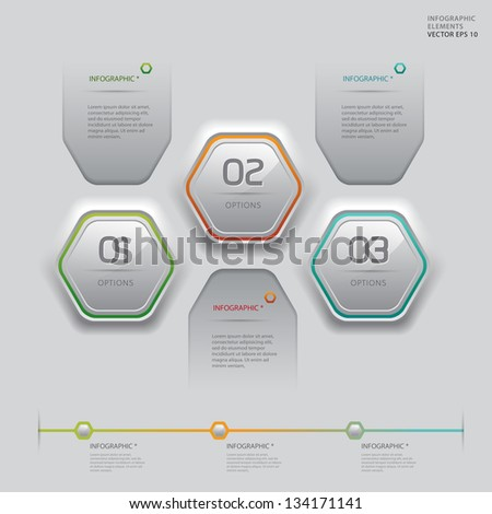 Modern white technology infographics banner. Vector illustration. can be used for workflow layout, diagram, web design, number options. - stock vector