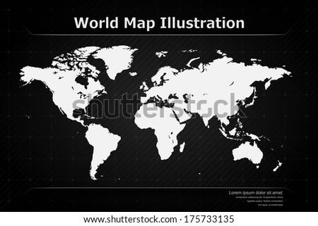 Modern World Map Illustration | EPS10 Vector - stock vector