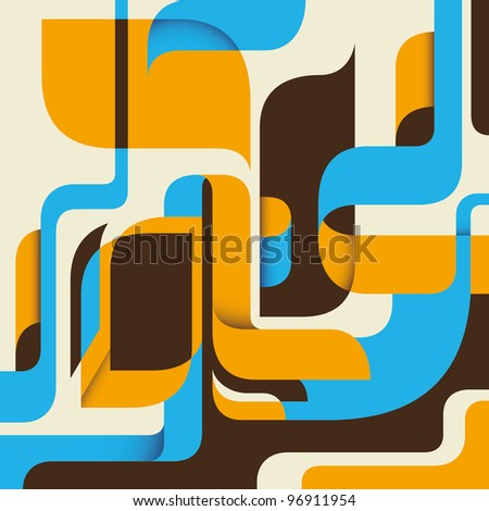 Modernistic abstract background. Vector illustration. - stock vector